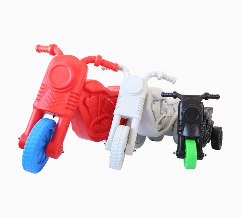 لعبة الأطفال دراجة نارية تهب العفن أحمر أبيض