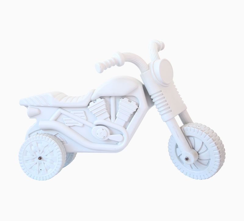 لعبة أطفال لعبة نفخ دراجة نارية العفن الأبيض